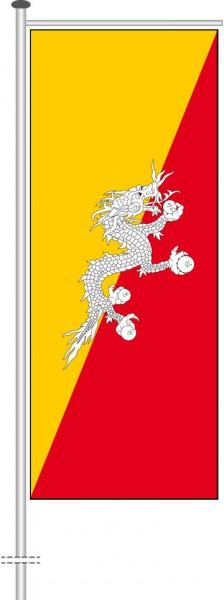 Bhutan als Auslegerfahne
