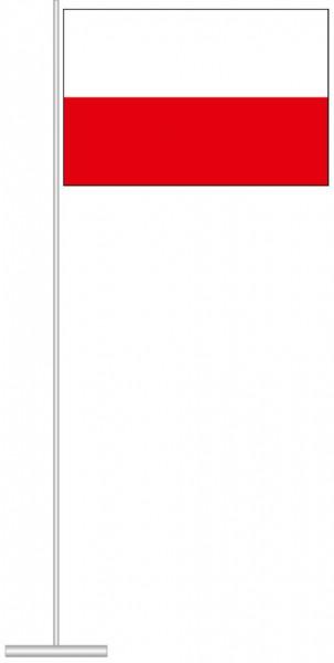 Thüringen - Streifenflagge als Tischfahne