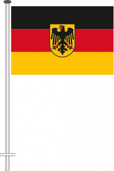 Bundesdienstflagge als Querformatfahne