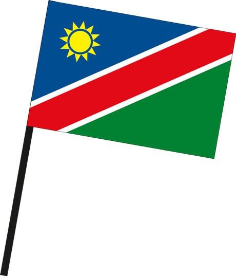 Namibia als Stockfahne