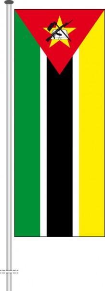 Mosambik als Hochformatfahne