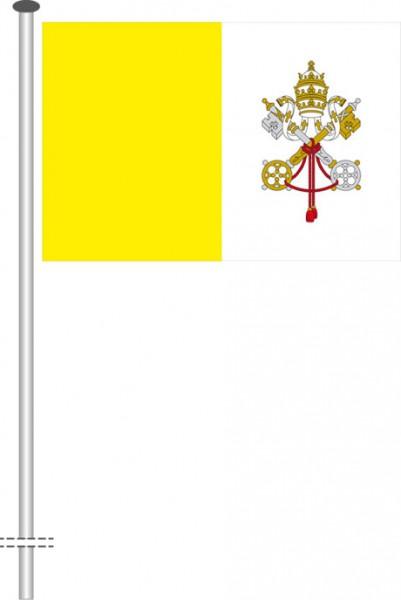 Vatikan als Querformatfahne