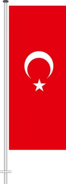 Türkei als Hochformatfahne