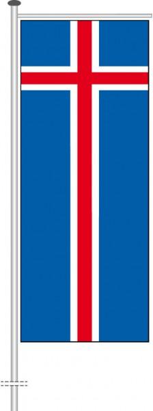 Island als Auslegerfahne