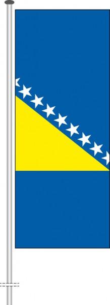 Bosnien Herzegowina als Hochformatfahne