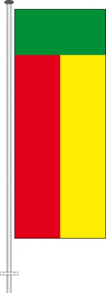 Benin als Hochformatfahne