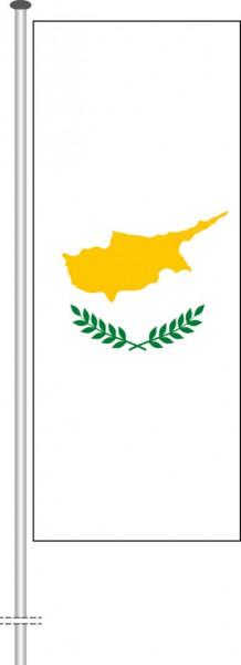 Zypern als Hochformatfahne