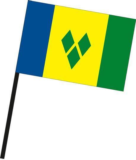 St. Vincent und Grenadien als Stockfahne