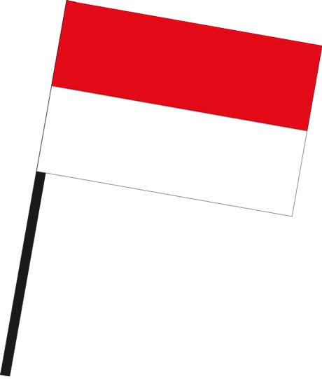 Indonesien als Stockfahne