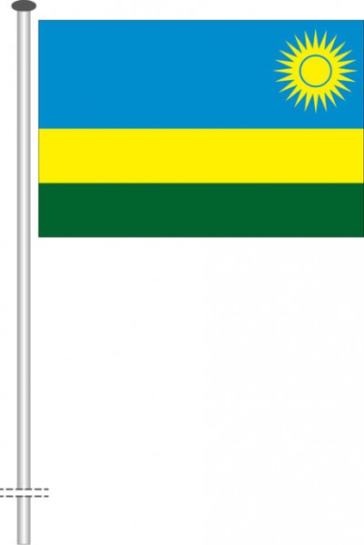 Ruanda als Querformatfahne