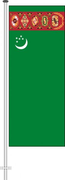 Turkmenistan als Hochformatfahne