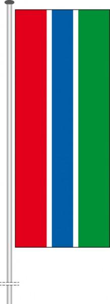 Gambia als Hochformatfahne