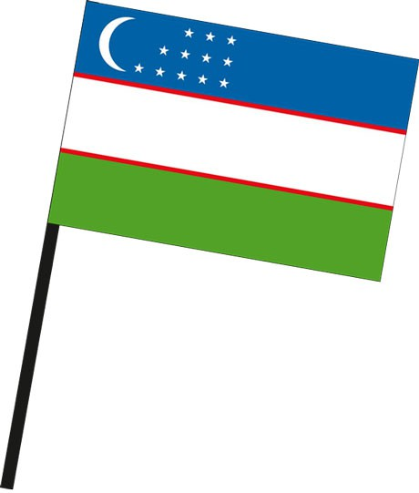 Usbekistan als Stockfahne