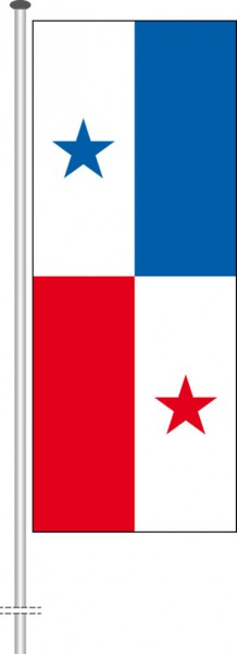 Panama als Hochformatfahne