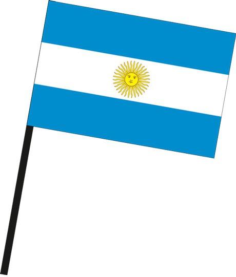Argentinien als Stockfahne