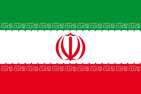 Iran als Fanfahne