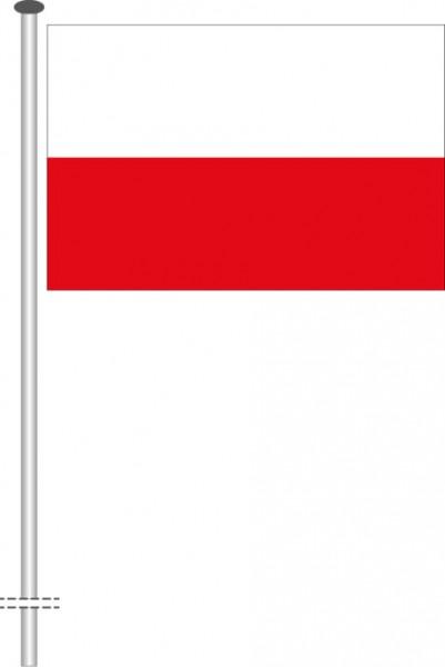 Polen als Querformatfahne