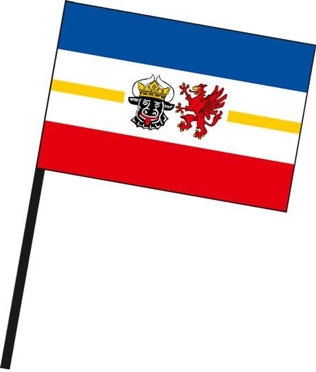 Mecklenburg-Vorpommern - Dienstflagge als Stockfahne