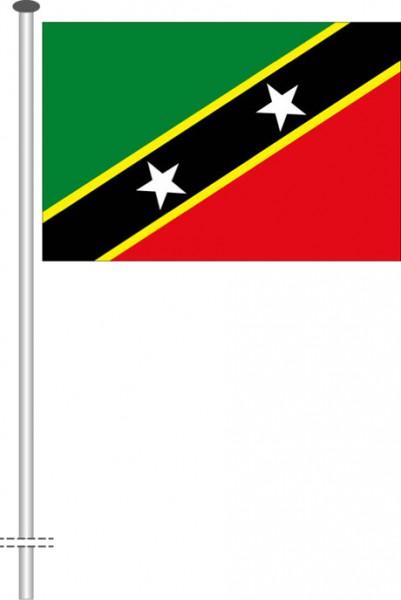 St. Kitts und Nevis als Querformatfahne