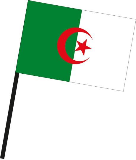 Algerien als Stockfahne