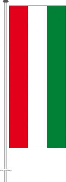 Ungarn als Hochformatfahne