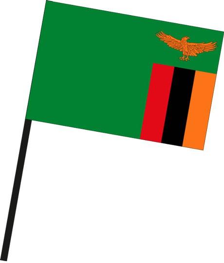 Sambia als Stockfahne
