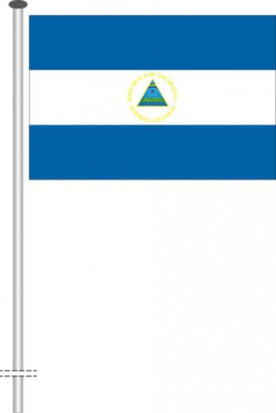 Nicaragua als Querformatfahne
