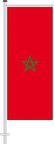 Marokko als Auslegerfahne
