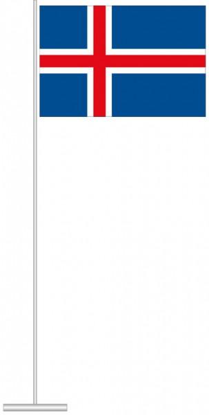 Island als Tischfahne