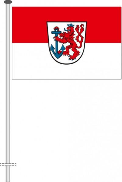 Düsseldorf mit Wappen als Querformatfahne