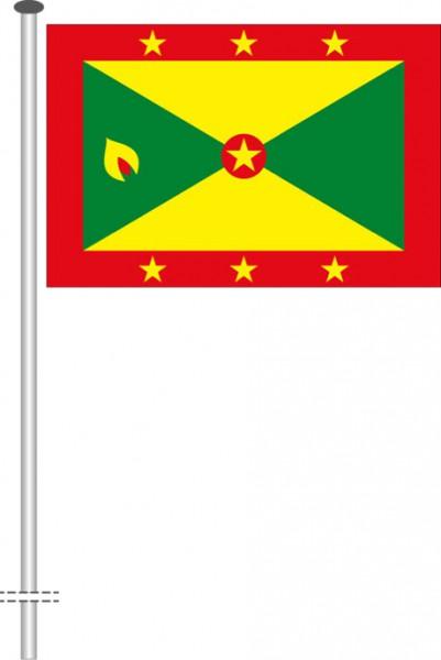 Grenada als Querformatfahne