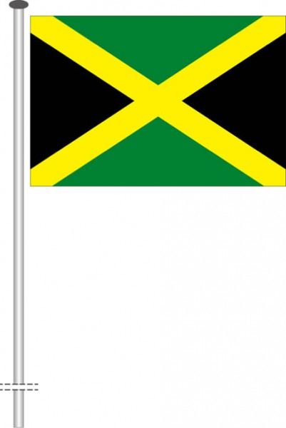Jamaika als Querformatfahne