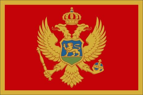 Montenegro als Fanfahne
