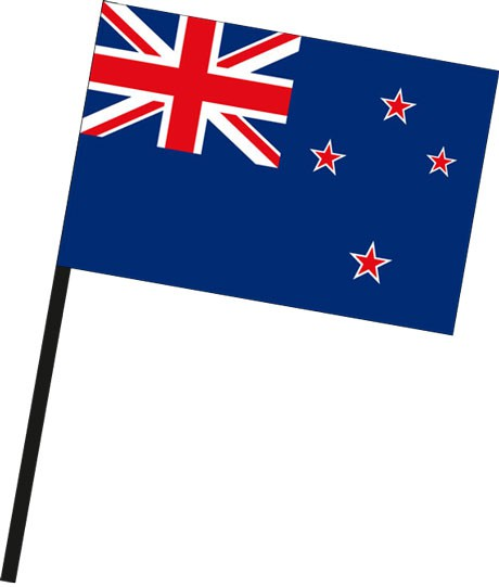 Neuseeland als Stockfahne
