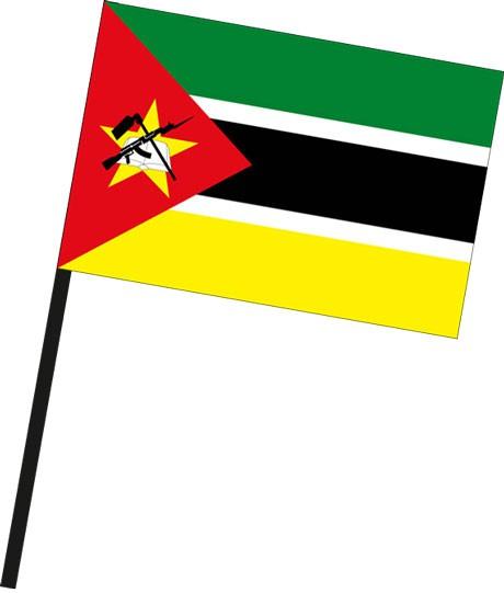 Mosambik als Stockfahne
