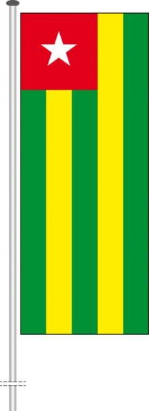 Togo als Hochformatfahne