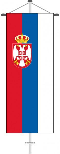Serbien als Bannerfahne