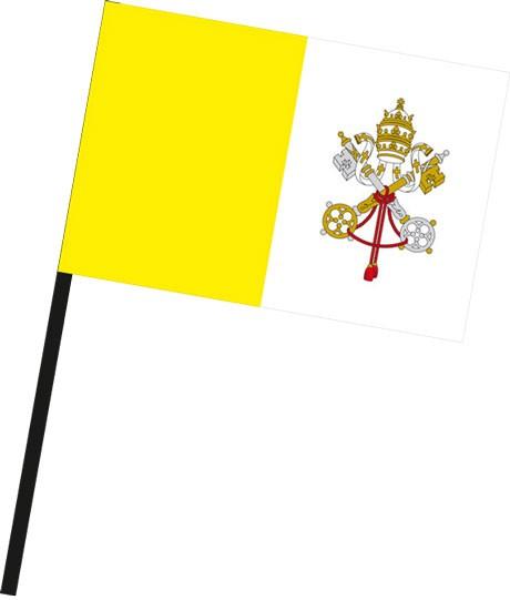Vatikan als Stockfahne