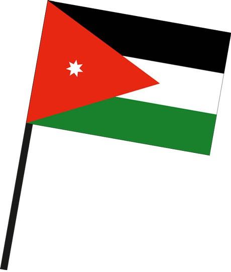 Jordanien als Stockfahne