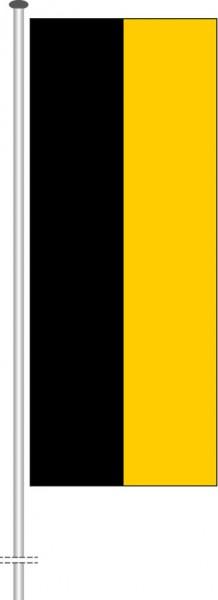 Baden-Würtemberg - Streifenflagge als Hochformatfahne