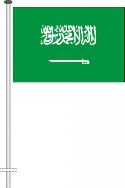 Saudi-Arabien als Querformatfahne