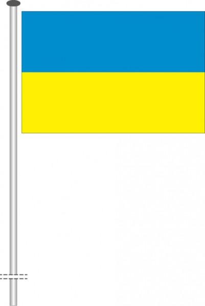 Ukraine als Querformatfahne