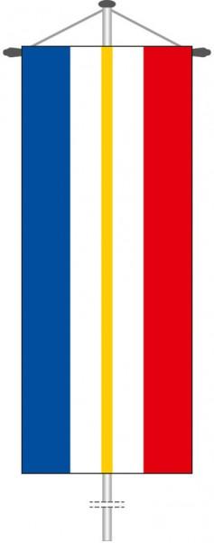 Mecklenburg-Vorpommern - Streifenflagge als Bannerfahne