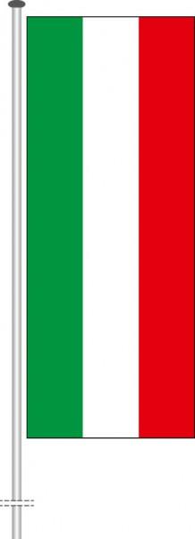 Nordrhein-Westfalen - Streifenflagge als Hochformatfahne