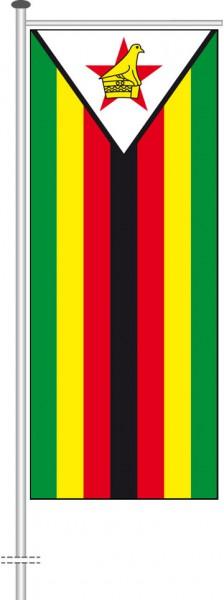 Simbabwe als Auslegerfahne