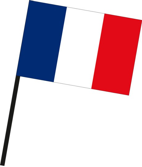Frankreich als Stockfahne