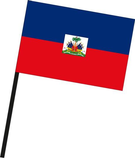 Haiti als Stockfahne