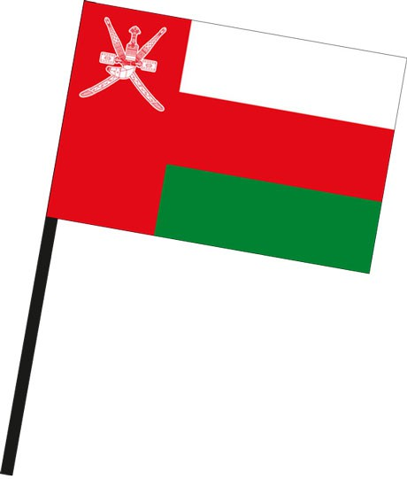 Oman als Stockfahne