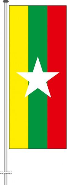 Myanmar als Hochformatfahne
