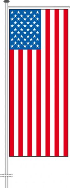 USA als Auslegerfahne